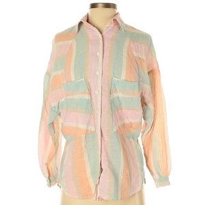 Free people long sleeve button down shirt